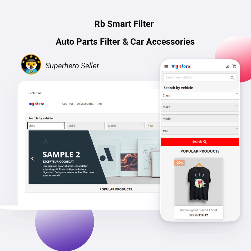 module - Search & Filters - Rb Smart Filter  -  Auto Parts Filter & Car Accessories - 1