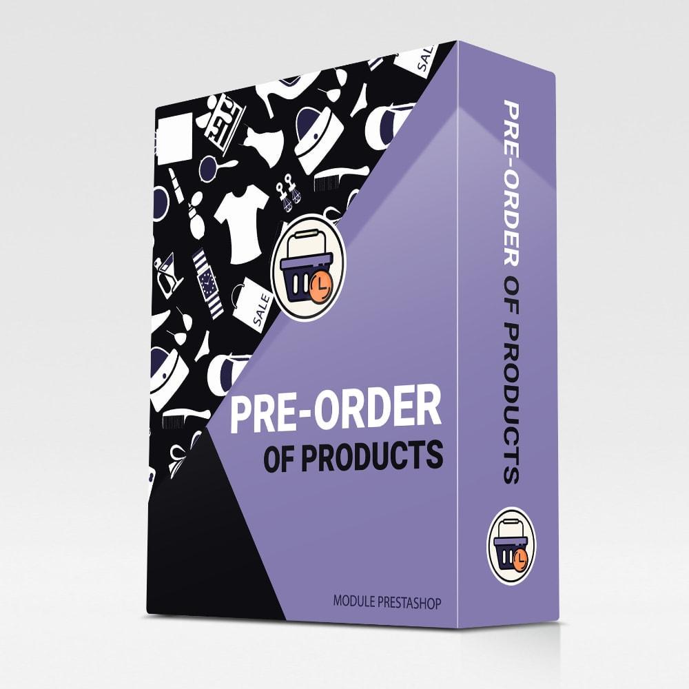module - Registration & Ordering Process - Pre-Order - 1