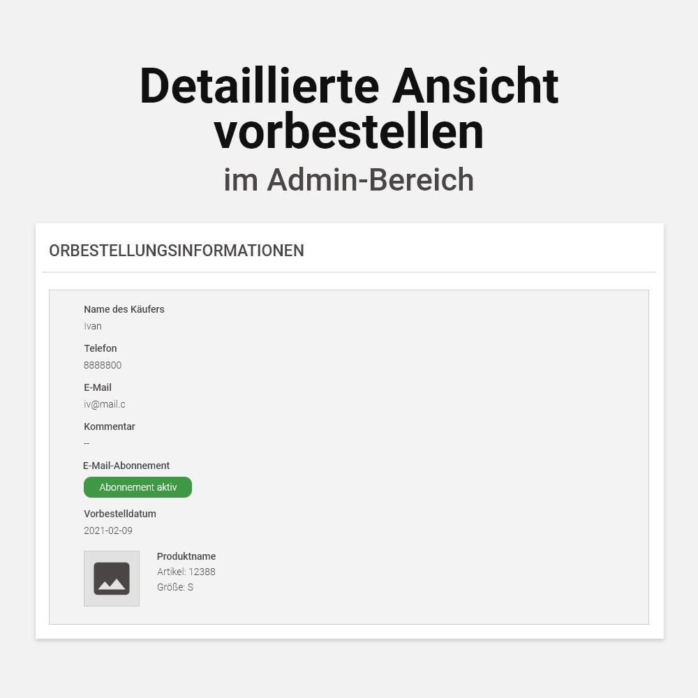 module - Anmeldung und Bestellvorgang - Waren vorbestellen - 10