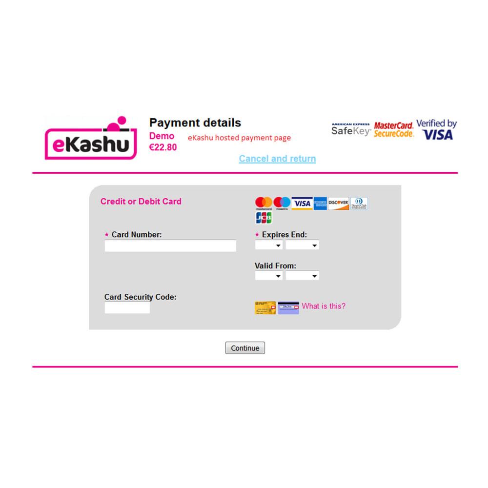 module - Zahlung per Kreditkarte oder Wallet - eKashu (NMI) Hosted Payment - 8