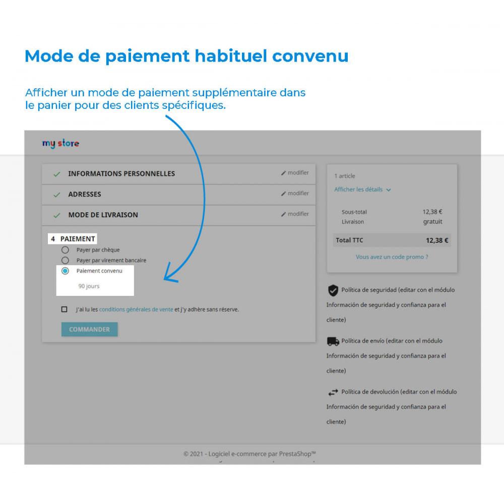 module - Autres moyens de paiement - Mode de paiement habituel - 2
