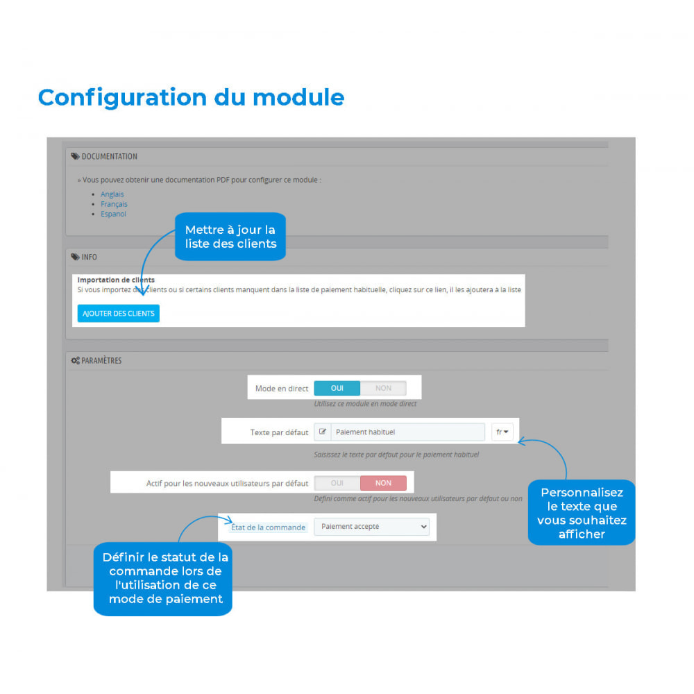 module - Autres moyens de paiement - Mode de paiement habituel - 3