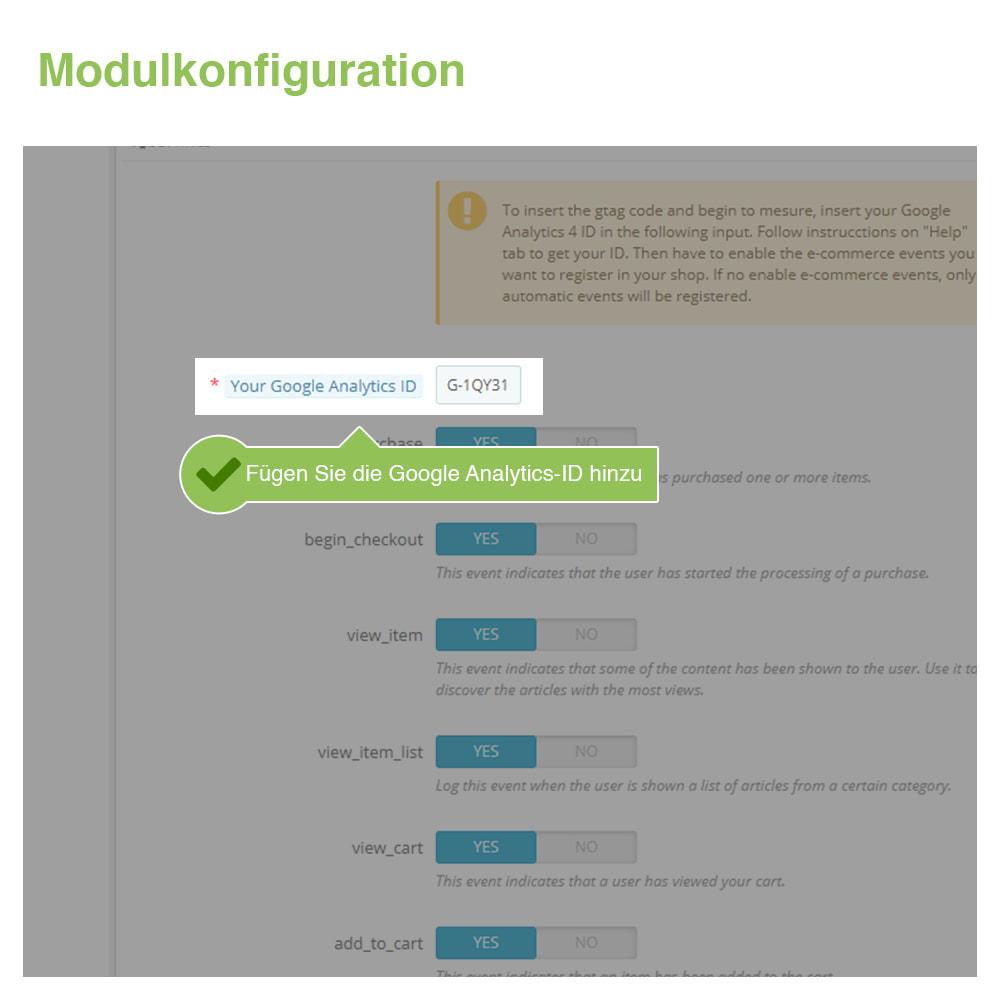 module - Analysen & Statistiken - Google Analytics 4 - GA4 - 2