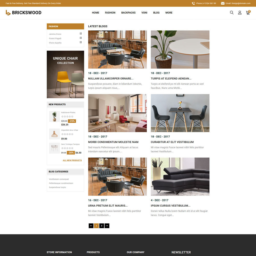 theme - Gifts, Flowers & Celebrations - Brickswood - Firniture Store - 3