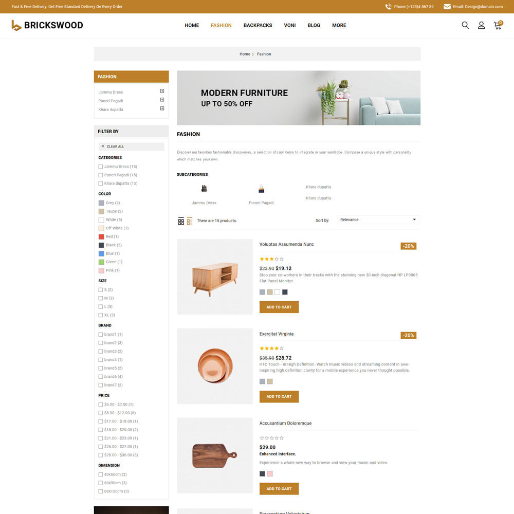 theme - Gifts, Flowers & Celebrations - Brickswood - Firniture Store - 5