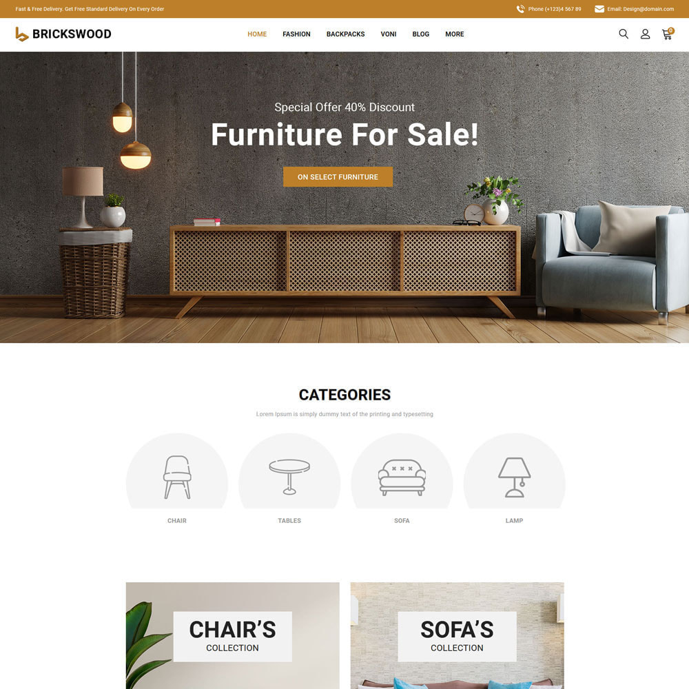theme - Gifts, Flowers & Celebrations - Brickswood - Firniture Store - 6