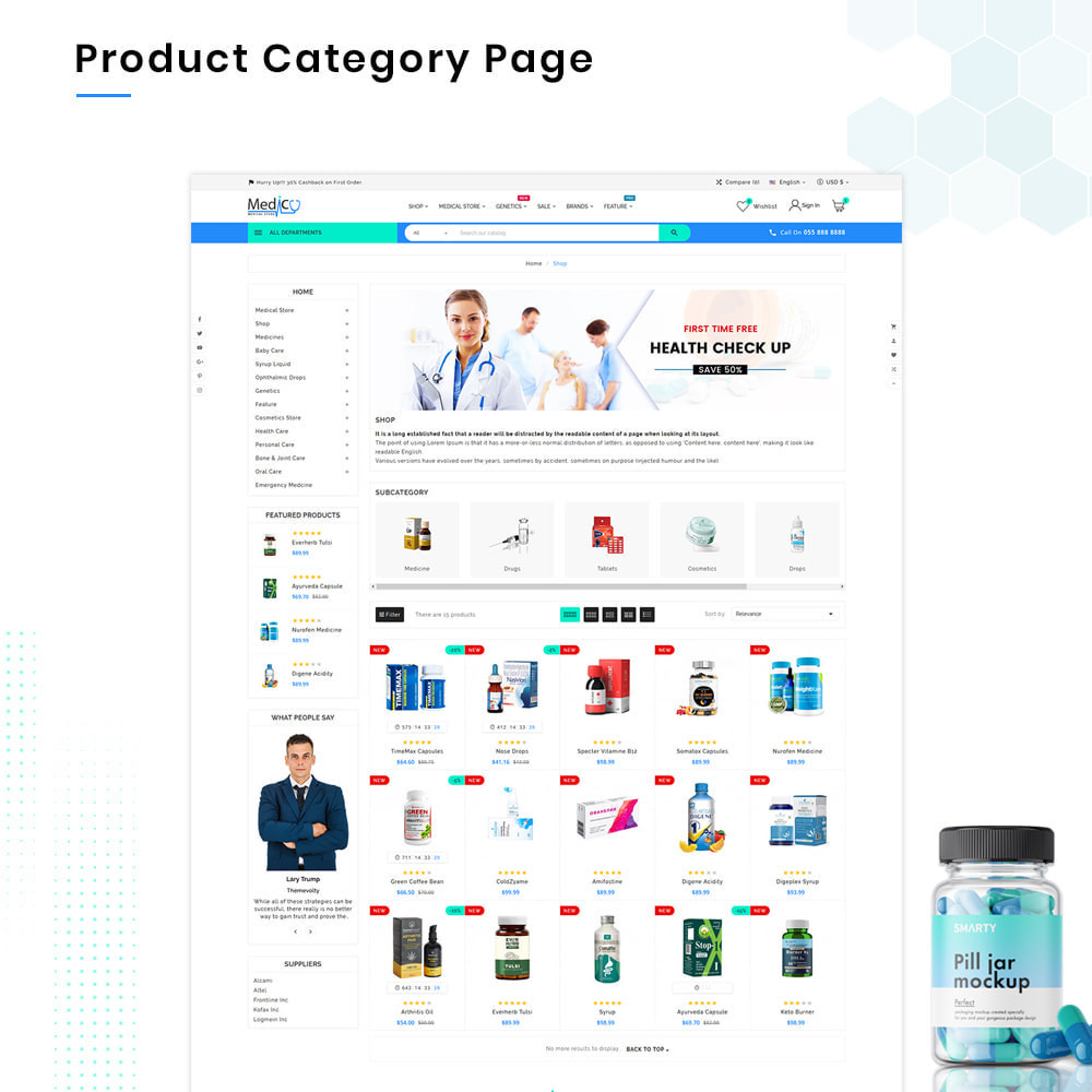 theme - Gesundheit & Schönheit - Medico Mega Medicine–Drug Pharmacy–Medical Super Store - 3
