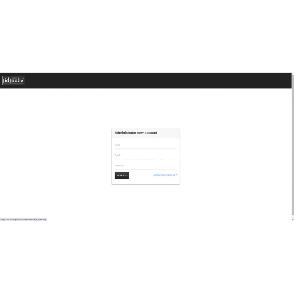 module - Blog, Foro y Noticias - Bib and Certificate Generator - 1