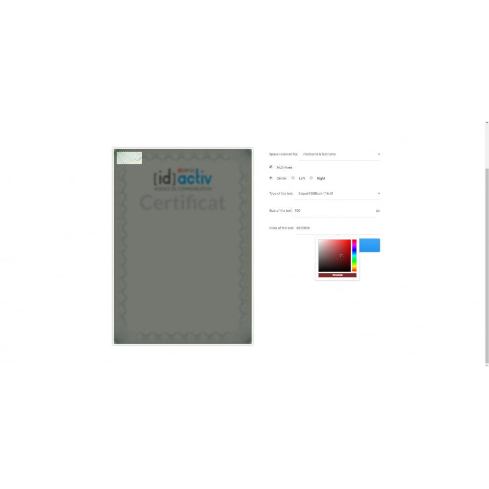 module - Blog, Foro y Noticias - Bib and Certificate Generator - 2