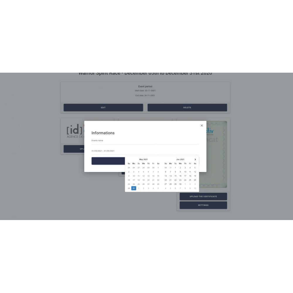 module - Blog, Foro y Noticias - Bib and Certificate Generator - 3