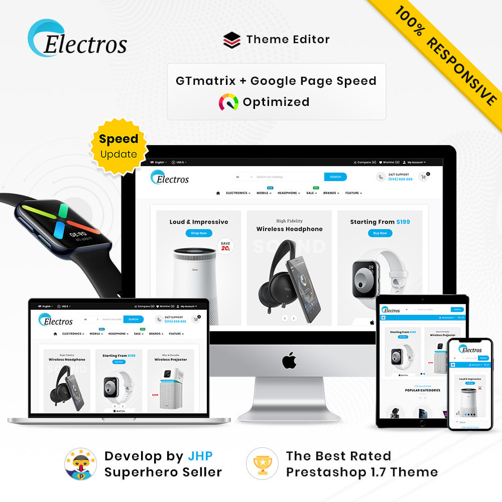 theme - Электроника и компьютеры - Electros High–Tech Gadgets–Electronics Mega Store - 1