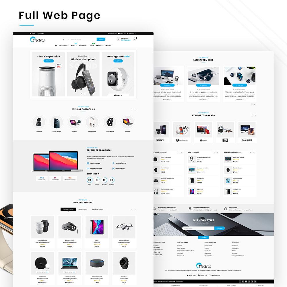 theme - Электроника и компьютеры - Electros High–Tech Gadgets–Electronics Mega Store - 2