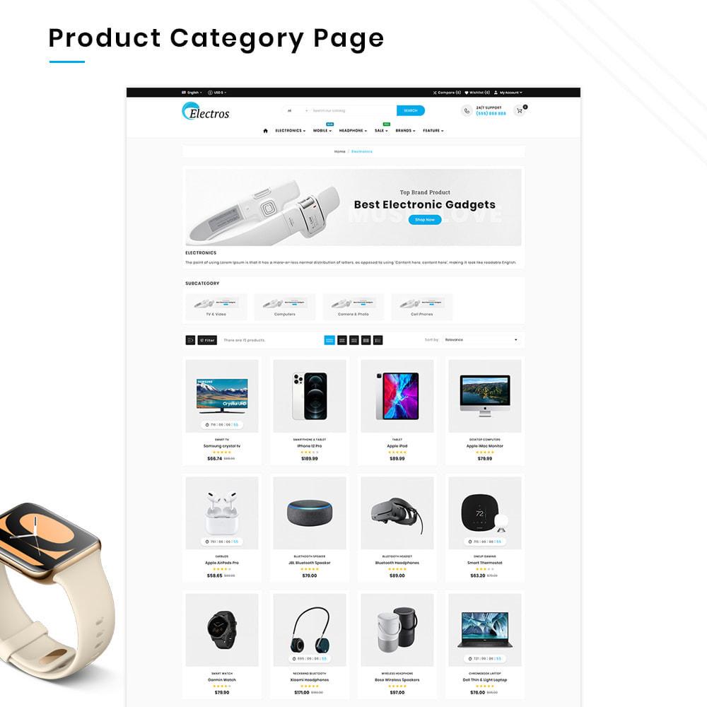 theme - Электроника и компьютеры - Electros High–Tech Gadgets–Electronics Mega Store - 3