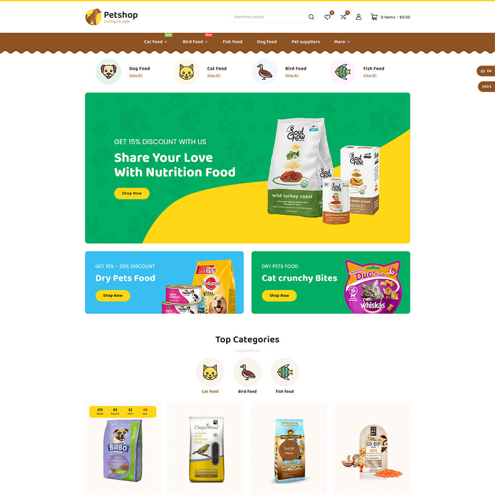 theme - Animali - Petstore - Animals & Pets Care Store - 2