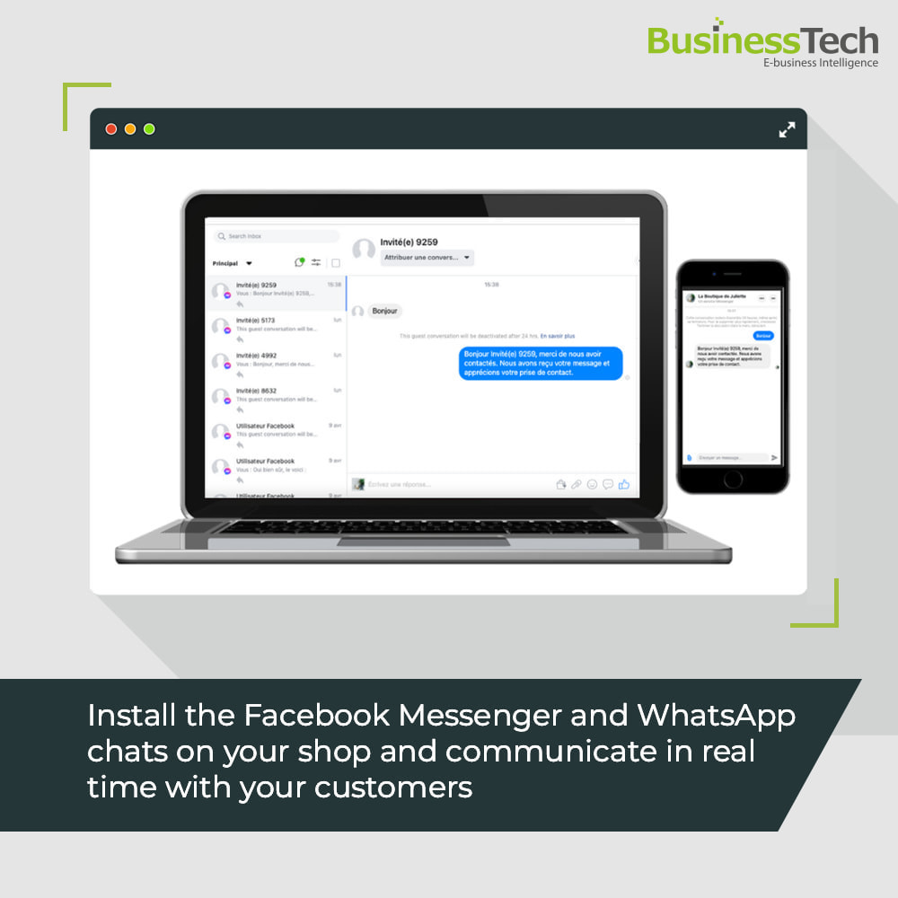 module - Support & Online-Chat - Chat Network for Facebook Messenger & WhatsApp-chats - 1
