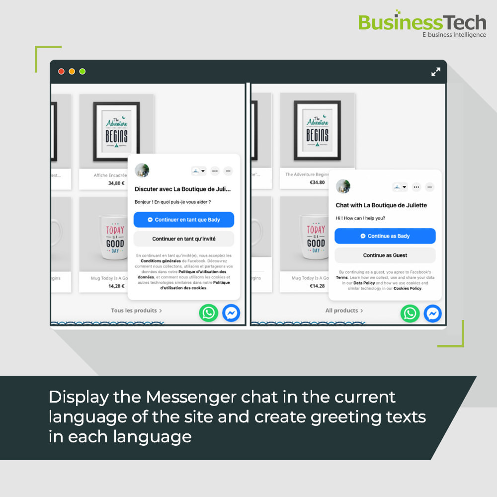 module - Support & Online-Chat - Chat Network for Facebook Messenger & WhatsApp-chats - 5