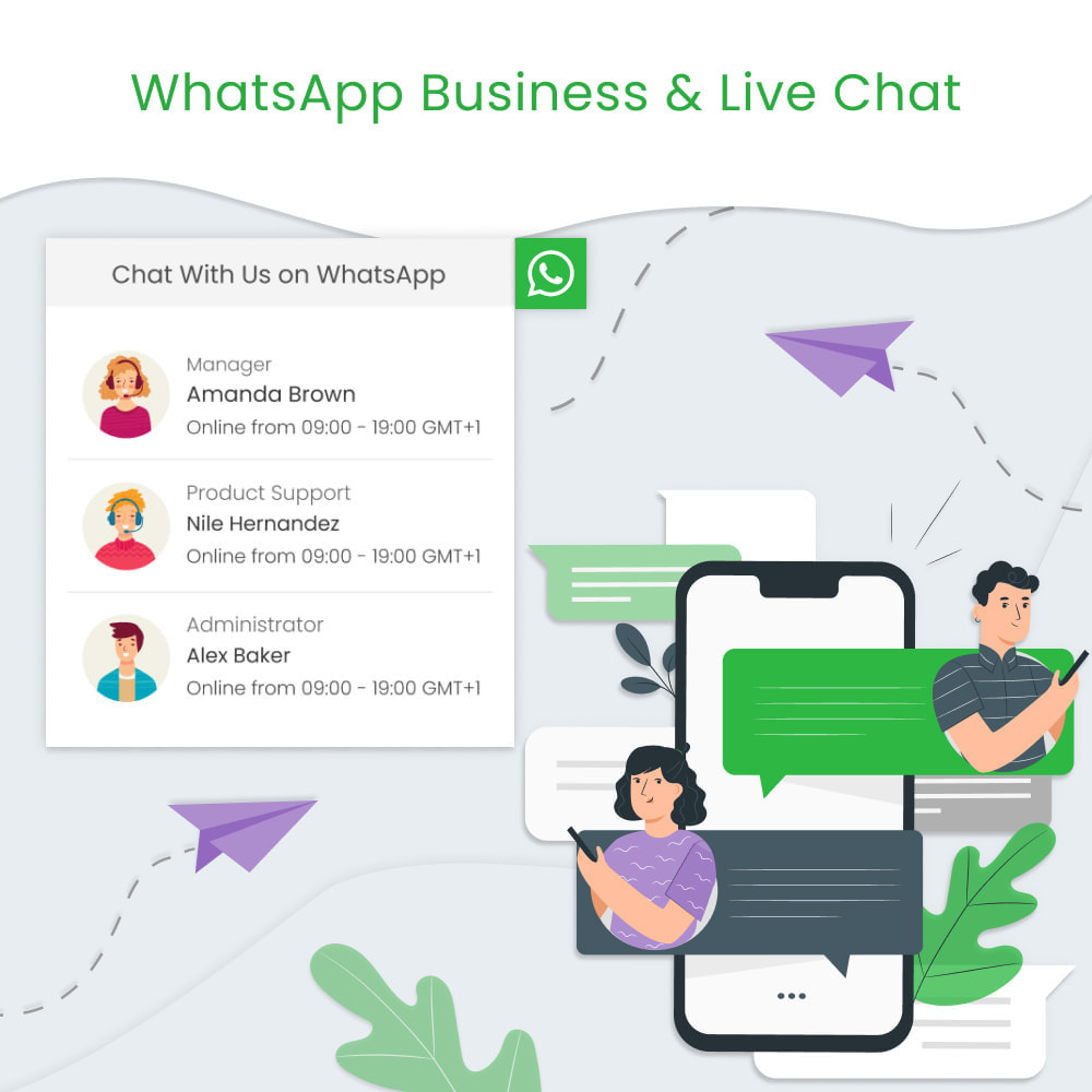 module - Support & Online-Chat - WhatsApp Business & Live Chat - 1