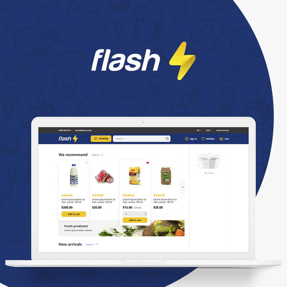 theme - Lebensmittel & Restaurants - Flash Food Market - 1