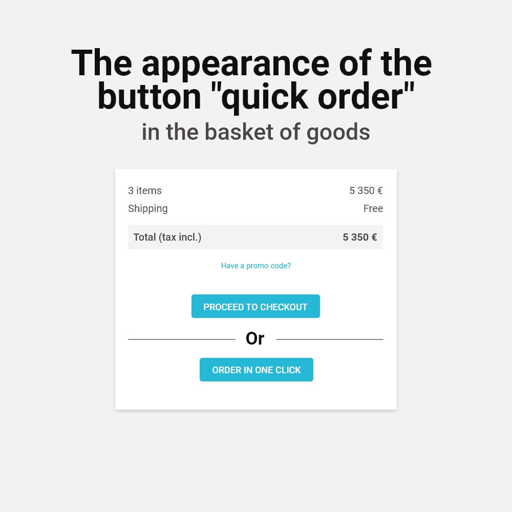 module - Express Checkout Process - One Click Order - 7