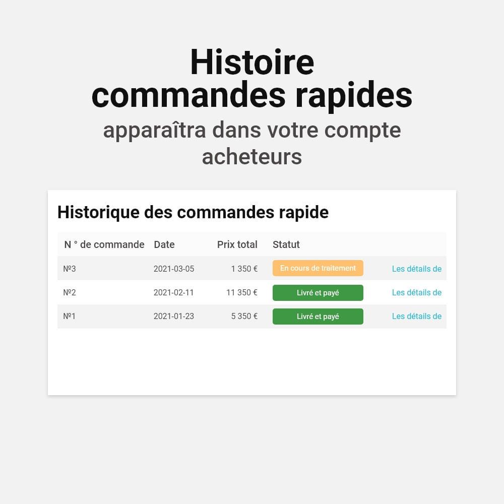 module - Processus rapide de commande - Commande en un clic - 5