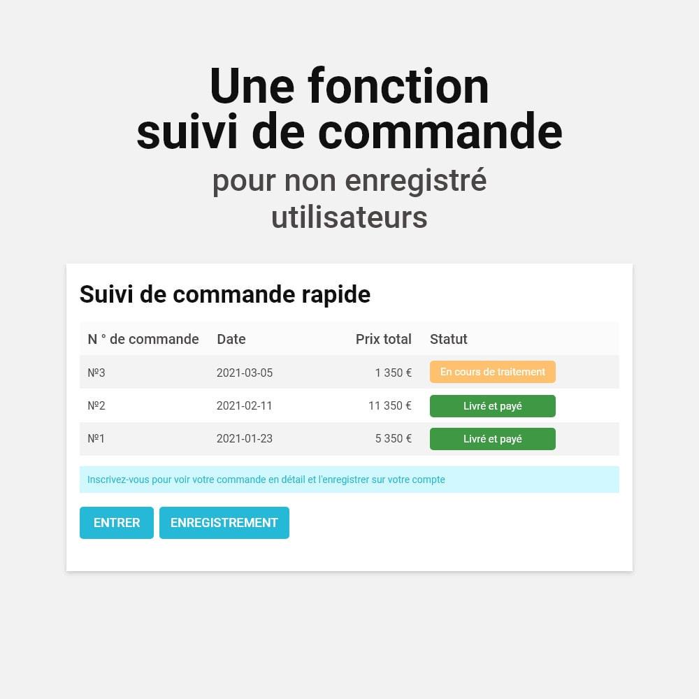 module - Processus rapide de commande - Commande en un clic - 6
