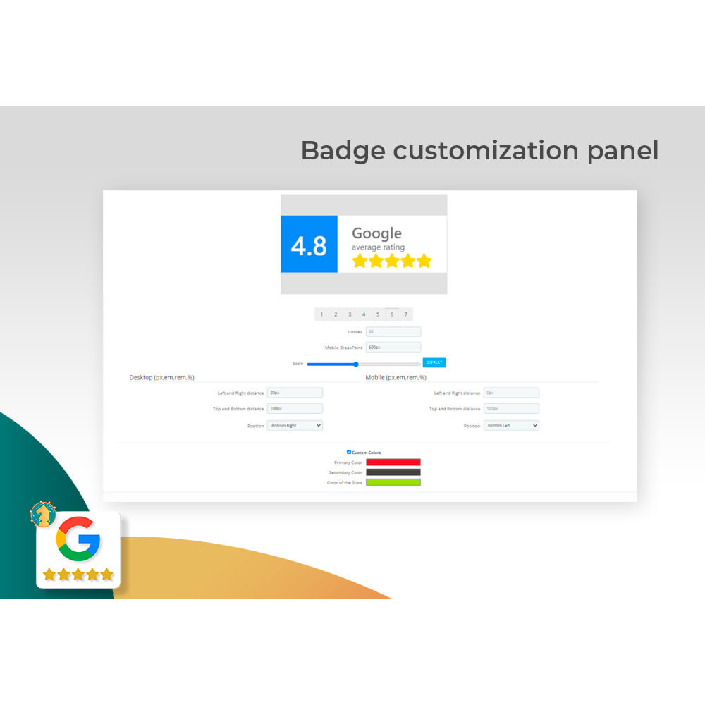 module - Opinie klientów - Google My Business Badge PRO - 3