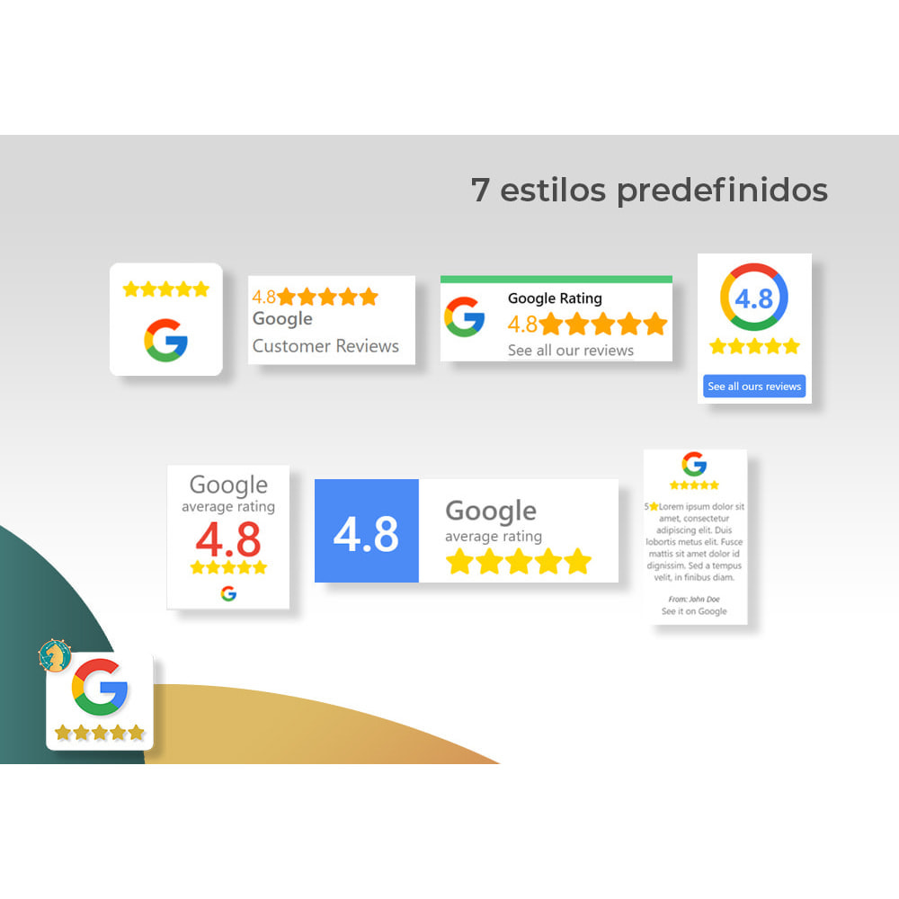 module - Comentarios de clientes - Google My Business Badge PRO - 1