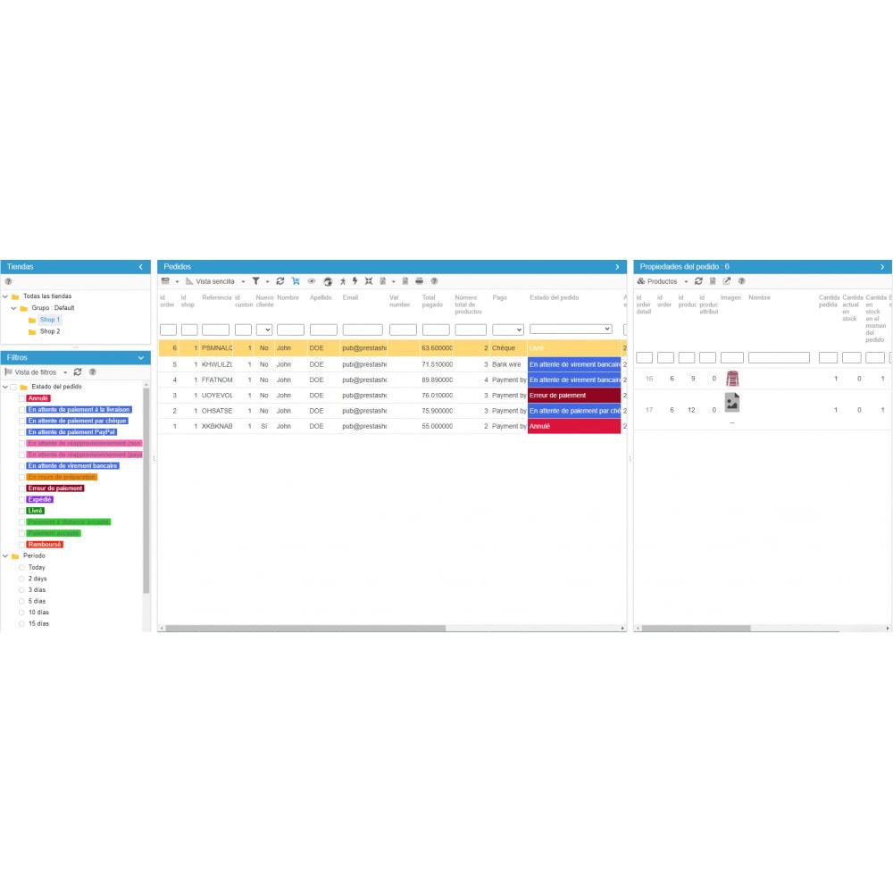 module - Administración del sitio - Store Commander - 6