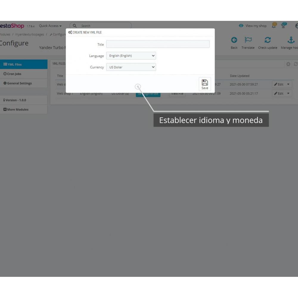 module - Marketplaces - Exportación YML para páginas turbo de Yandex - 2