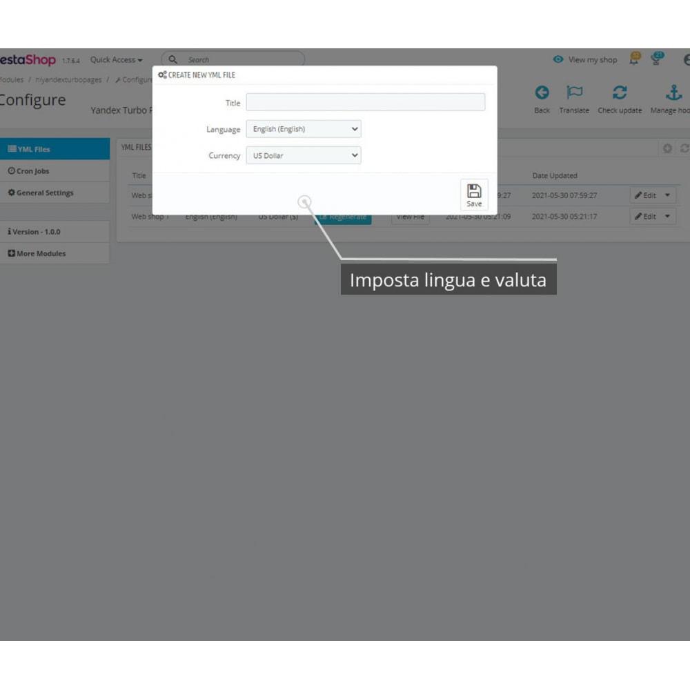 module - Marketplace - Esportazione YML per le pagine turbo Yandex - 2