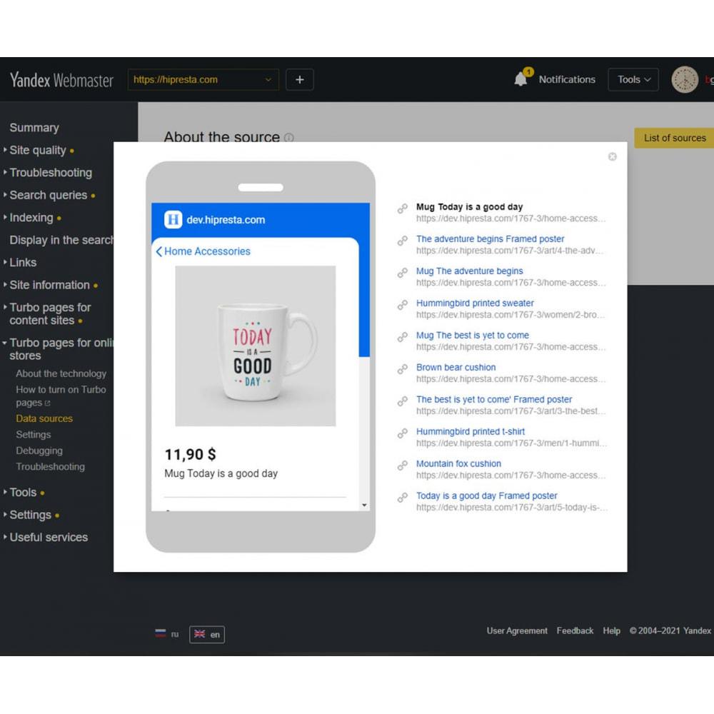 module - Marketplace - Esportazione YML per le pagine turbo Yandex - 5
