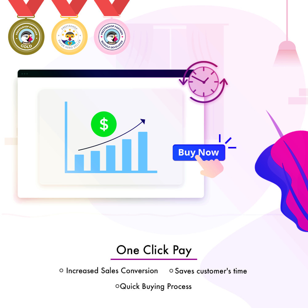 module - Proceso rápido de compra - One Click Pay | Hassle Free Checkout - 2