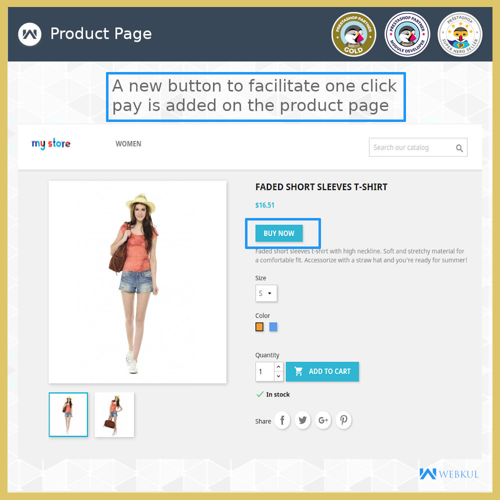module - Proceso rápido de compra - One Click Pay | Hassle Free Checkout - 3