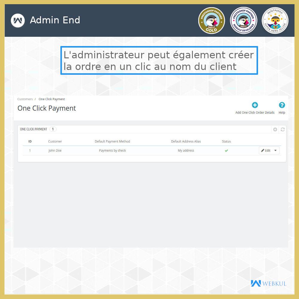 module - Processus rapide de commande - Paiement en un clic  Paiement sans tracas - 5