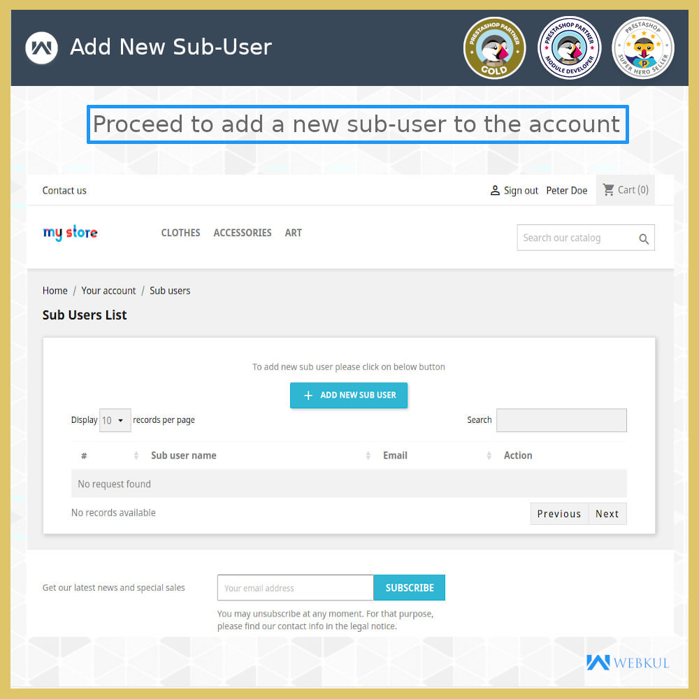 module - Social Login & Connect - Add Sub-User Account for Buying - 7
