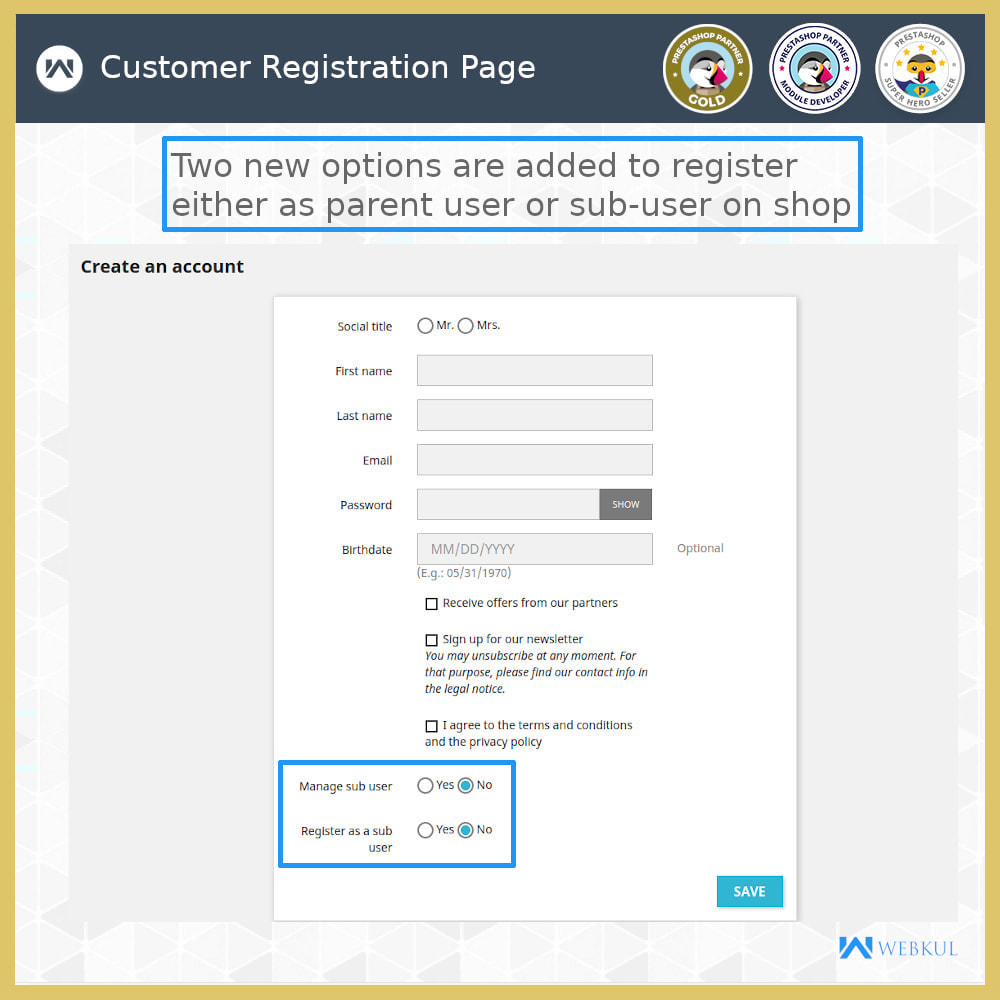 module - Social Login & Connect - Add Sub-User Account for Buying - 11