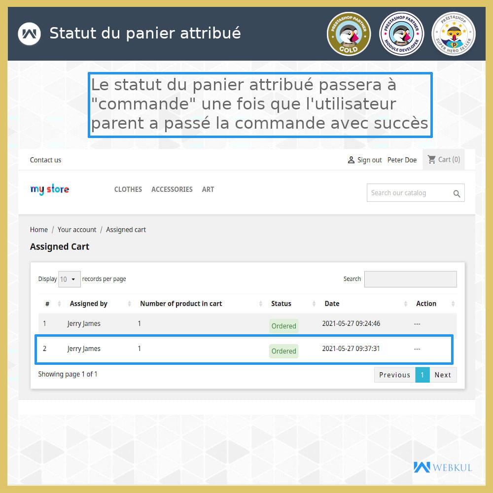 module - Boutons Login & Connect - Ajouter un compte de sous-utilisateur pour l'achat - 3