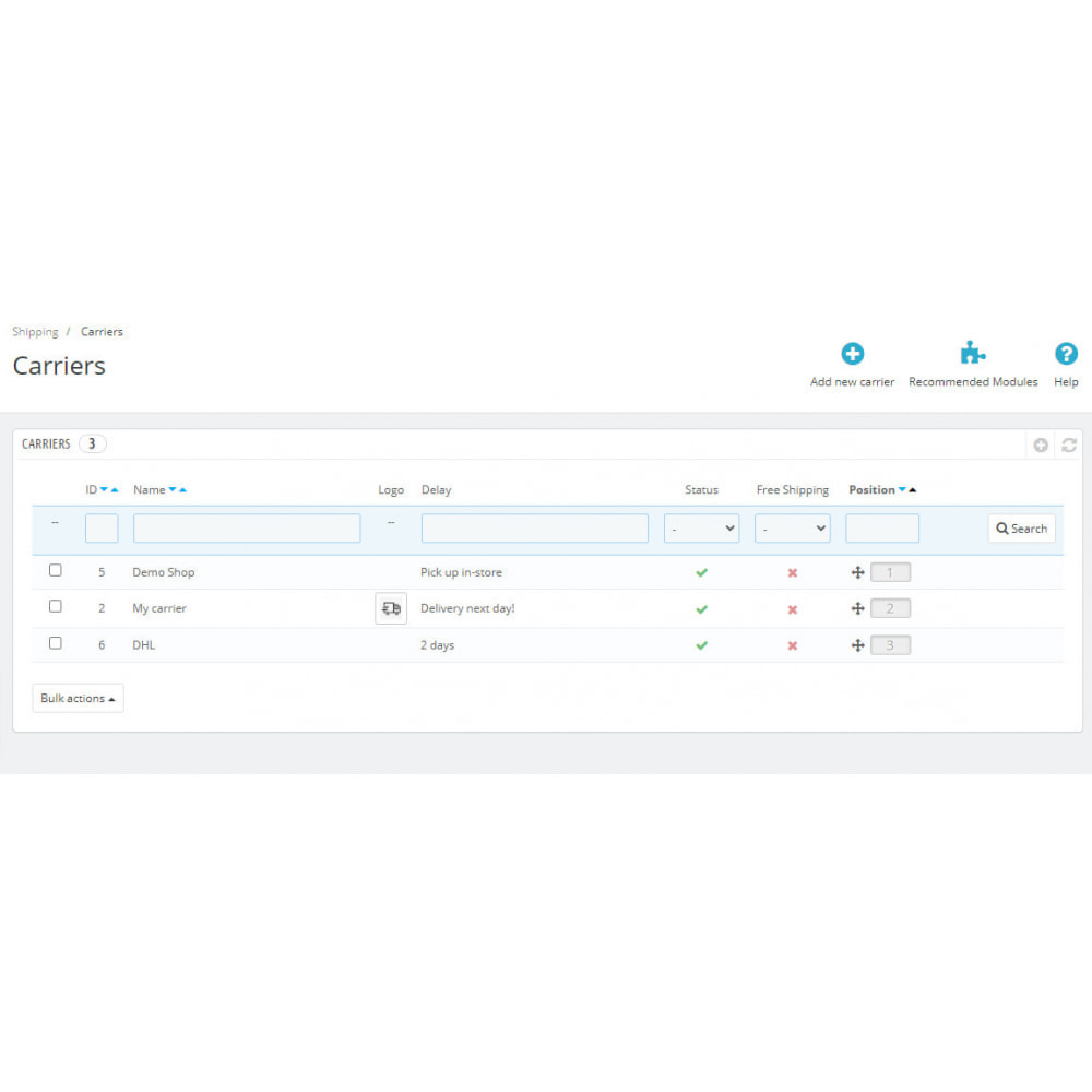 module - Shipping Carriers - Enable or Disable Carriers with Conditions - 4