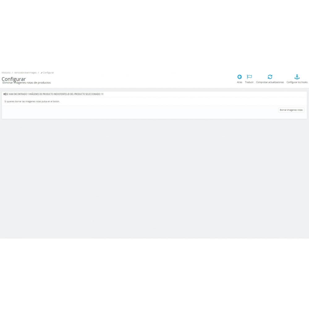 module - Fotos de productos - Eliminar imágenes rotas de producto - 2