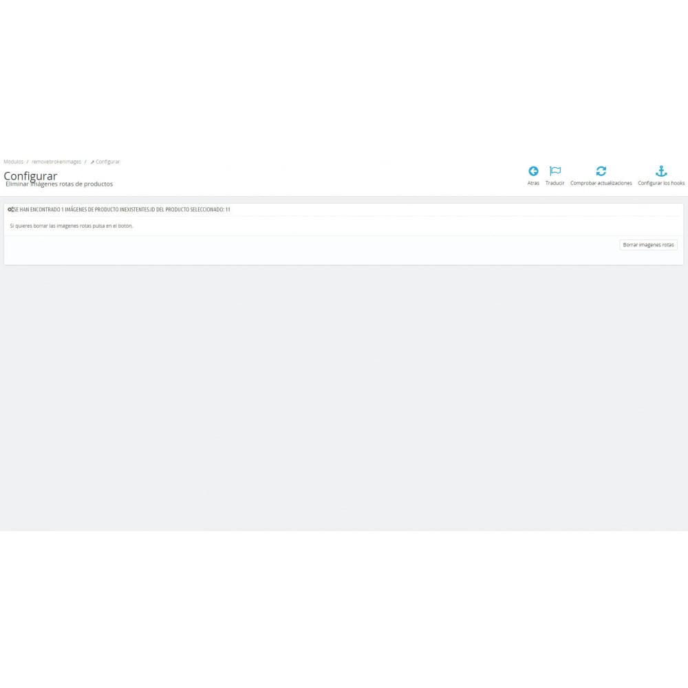 module - Fotos de productos - Eliminar imágenes rotas de producto - 7