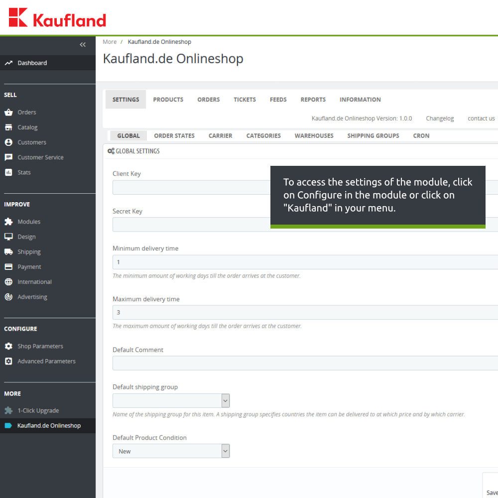 module - Revenda (marketplace) - kaufland.de Marketplace Connector - 2