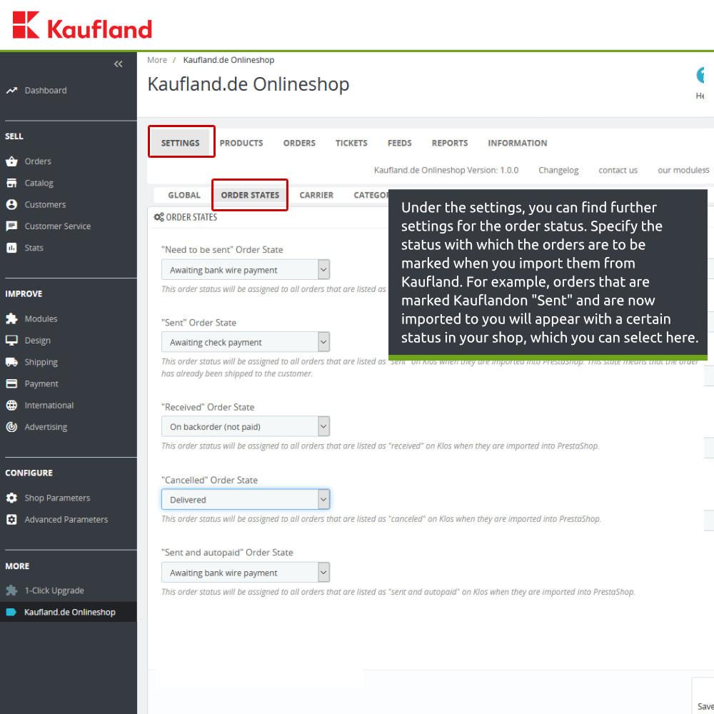module - Revenda (marketplace) - kaufland.de Marketplace Connector - 5