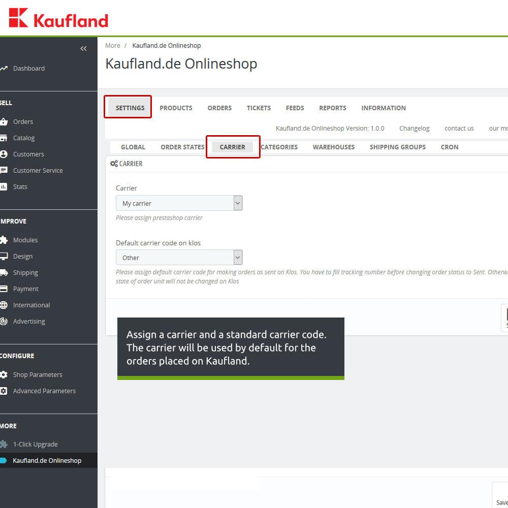 module - Revenda (marketplace) - kaufland.de Marketplace Connector - 6