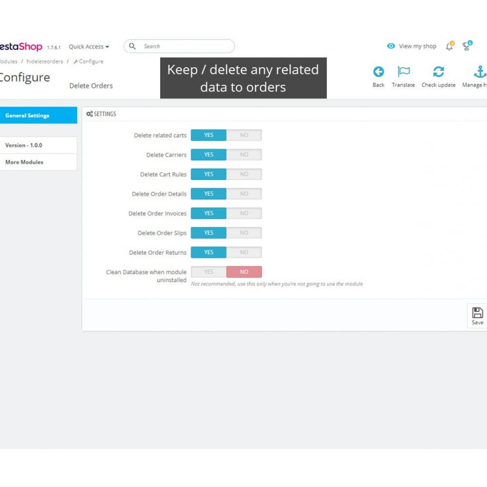 module - Zarządzanie zamówieniami - Easy Order Delete - 1