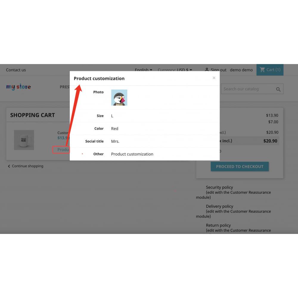module - Combinations & Product Customization - Advanced product customization-Reuse attribute display - 9