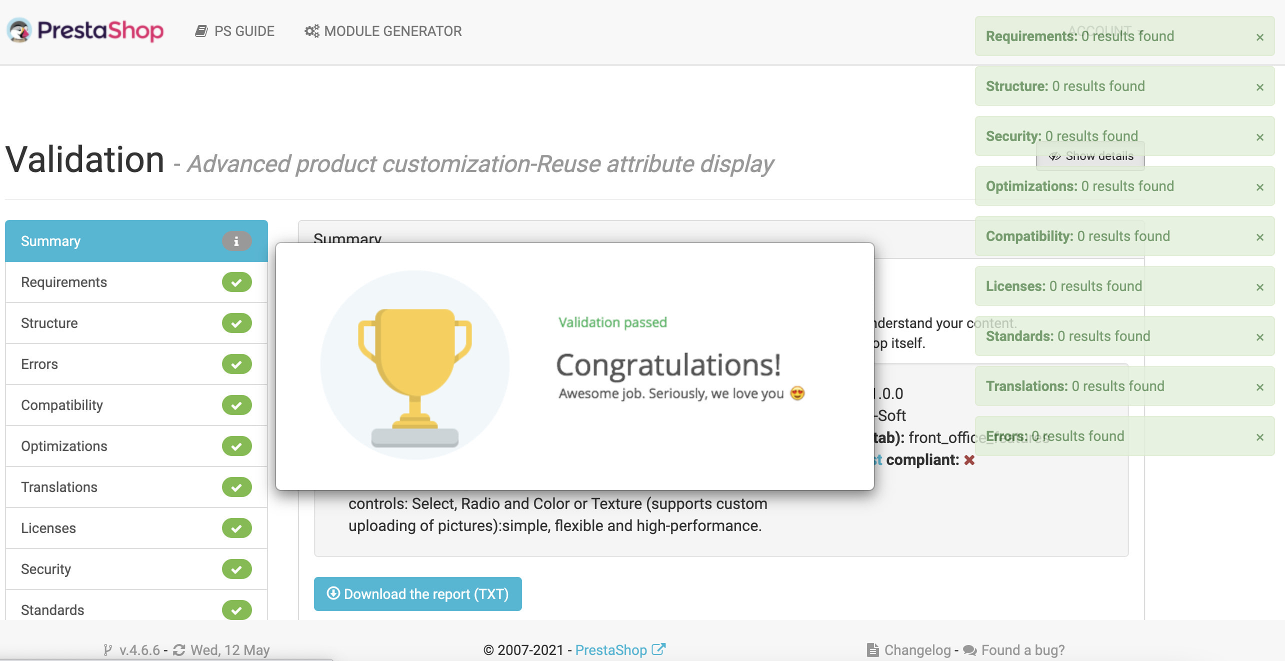 module - Combinations & Product Customization - Advanced product customization-Reuse attribute display - 14