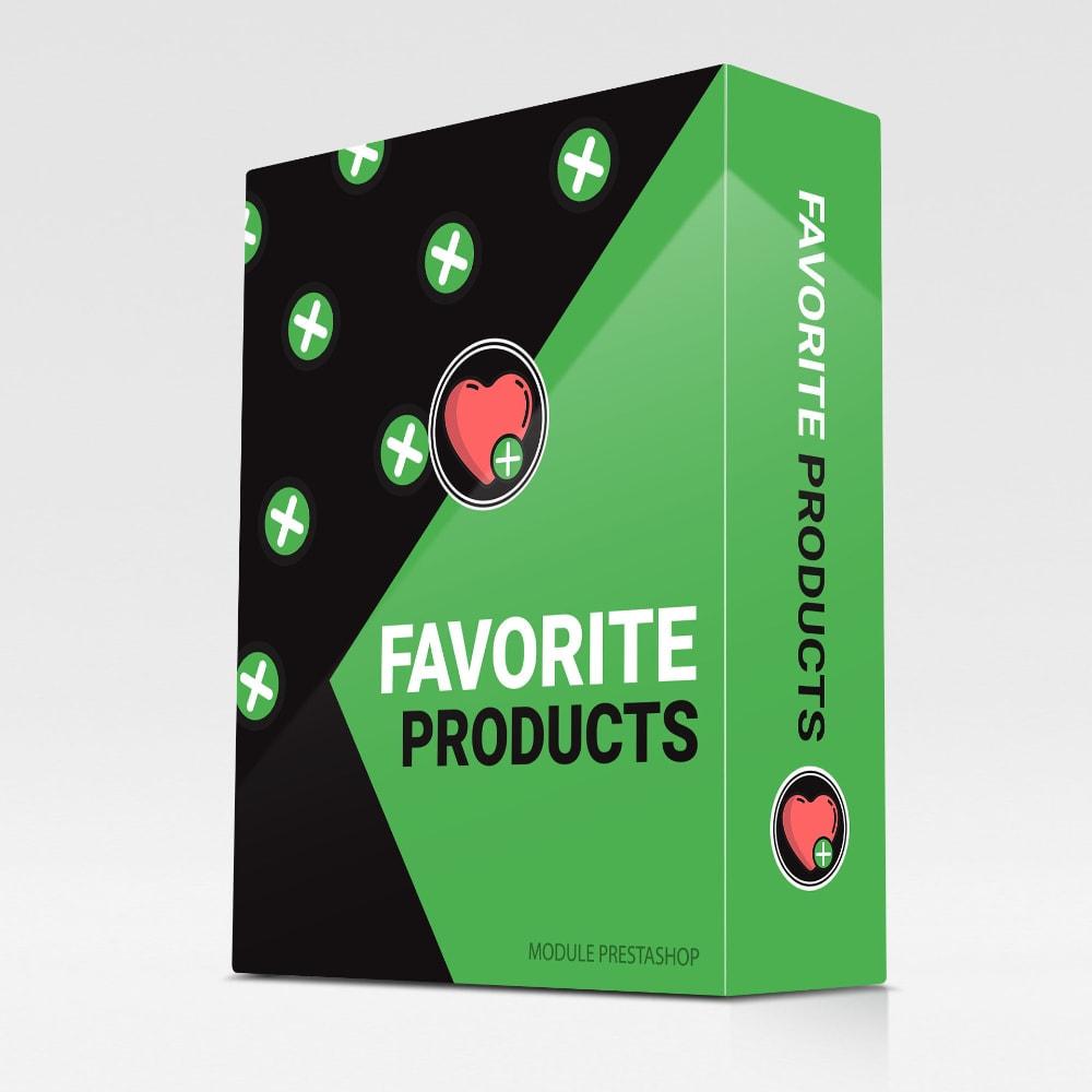 module - Wishlist & Gift Card - Wishlist / Favorite products - 1