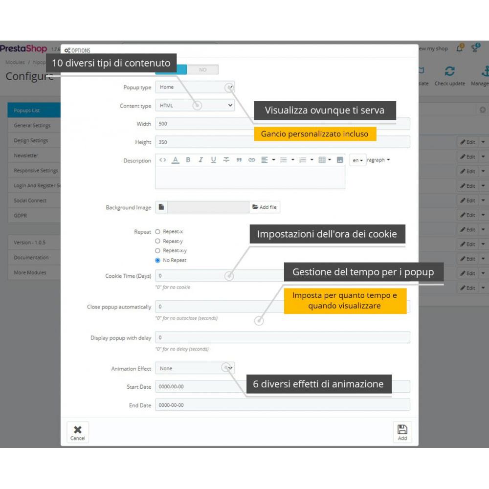 module - Login/Connessione - Popup Pack (10 in 1) e Connessione social - 14