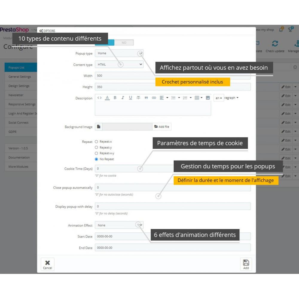 module - Boutons Login & Connect - Pack Pop Ups (10 en 1) Et La Social Connexion - 14