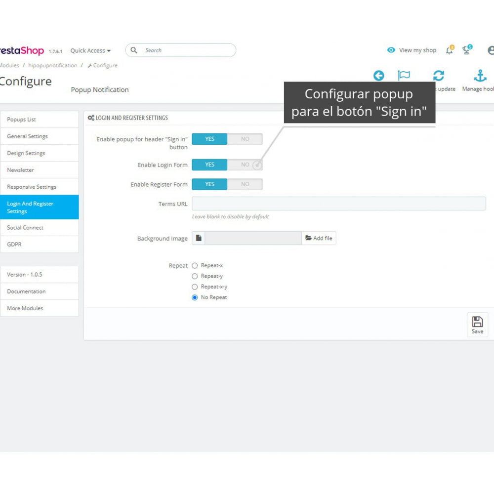 module - Botones de inicio de Sesión/Conexión - Paquete de Pop-Ups (10 en 1) Y Conexión social - 17